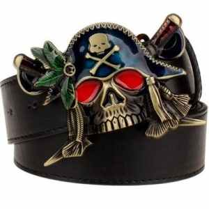 Pirate skull belt buckle