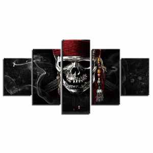 Pirate skull painting