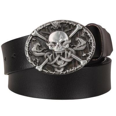 Skull and Crossbones belt buckle