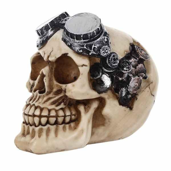 Decorative Skull Steampunk side
