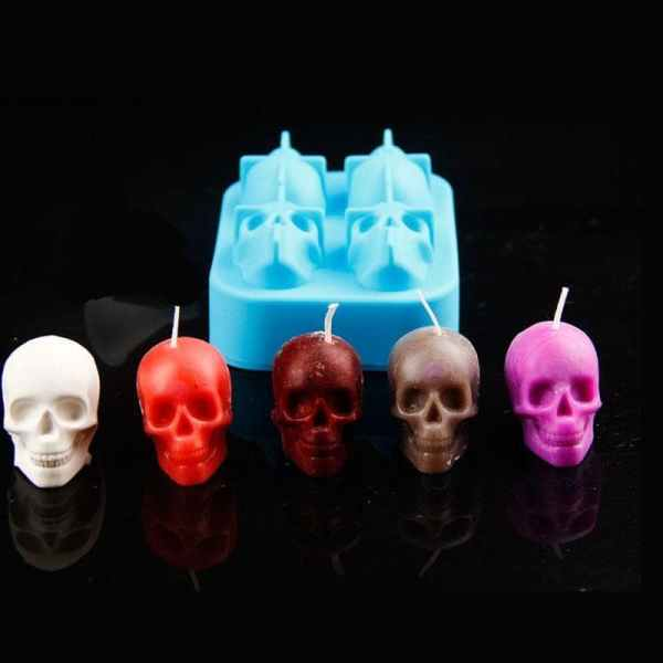 Skull Candle With Silicone Mold