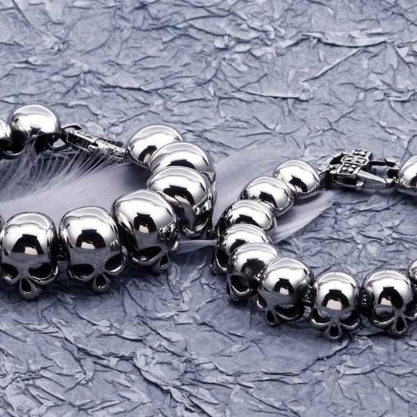 Size Comparison for Skull Head Bracelet