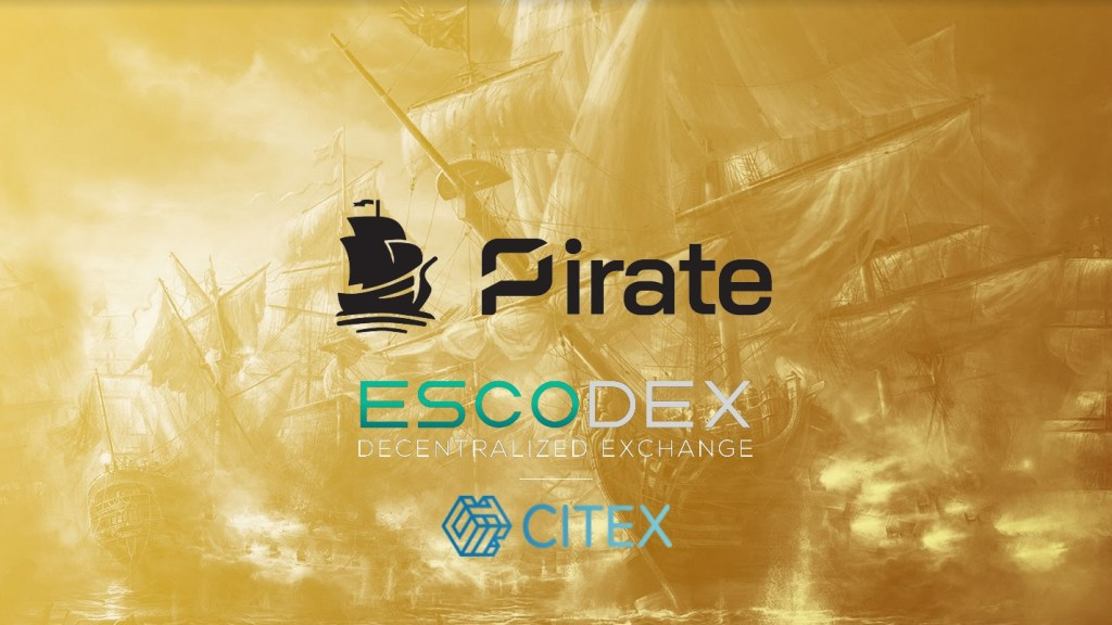 PIRATE can trade on Citex and Escodex
