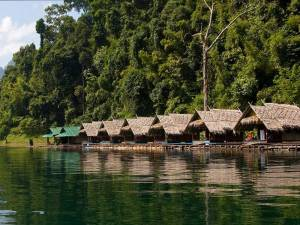 Cheow Lan Lake Raft House Khao-Sok-on-a-lake