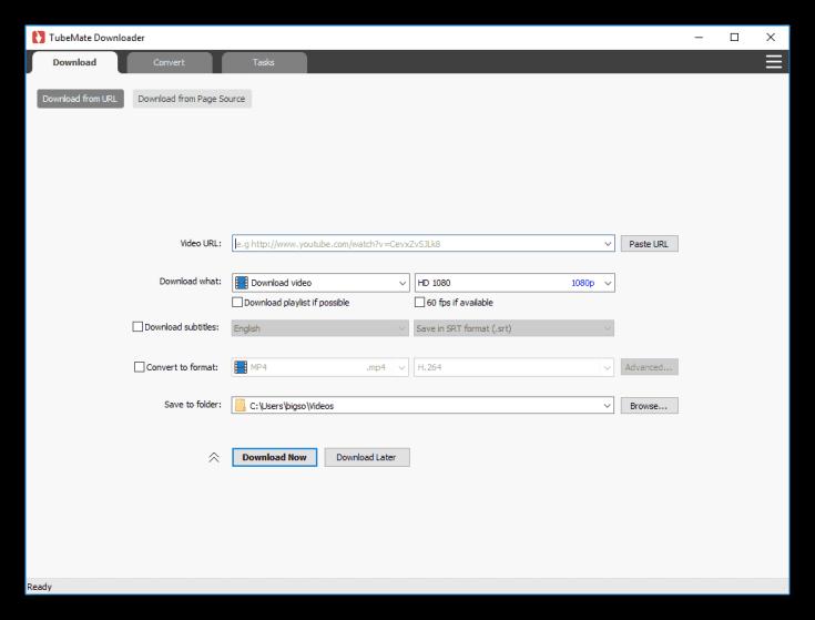 TubeMate Downloader For Windows 10