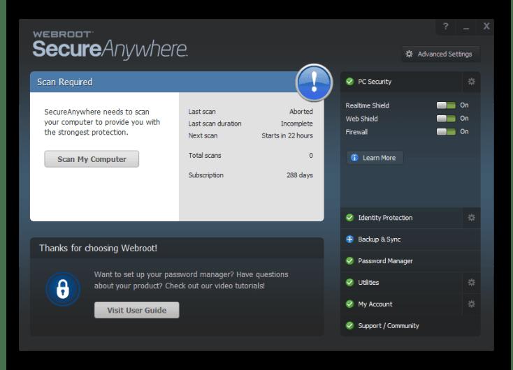 Webroot Secureanywhere Antivirus Key