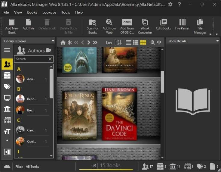 Alfa eBooks Manager License Key Download