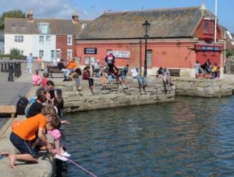 crabbing at the Old Lifeboat station