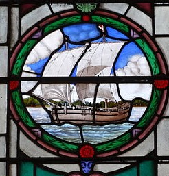 discovery stained glass picture