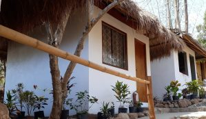 comfortable Garden Bungalow accommodation at Pirates Diving resort