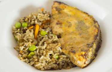 Swordfish w/ Japanese stir-fry rice
