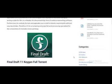 Final Draft 11 Crack And Serial Key Full Free Download