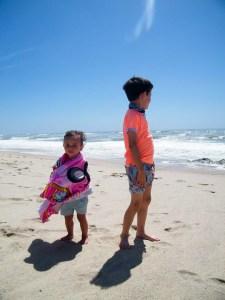 primeiro dia de praia