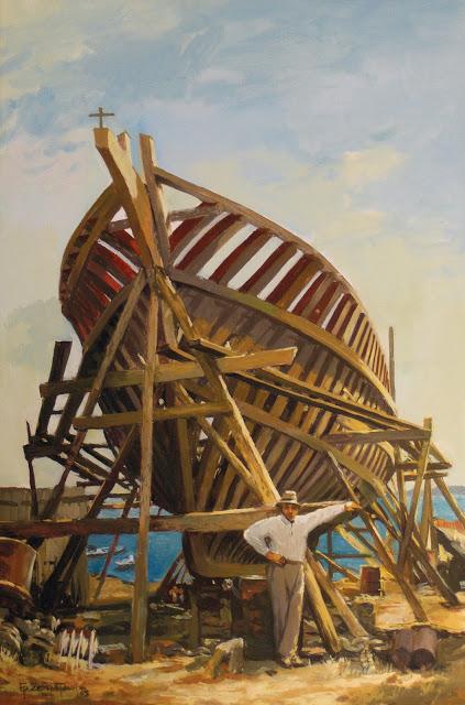Στους ταρσανάδες του Περάματος, στο ναυπηγείο του Μανώλη Ψαρού - Σερεμετάκης