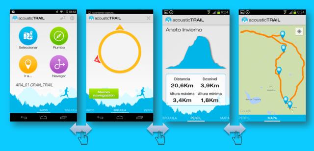 Visualización de los atributos de la ruta activa
