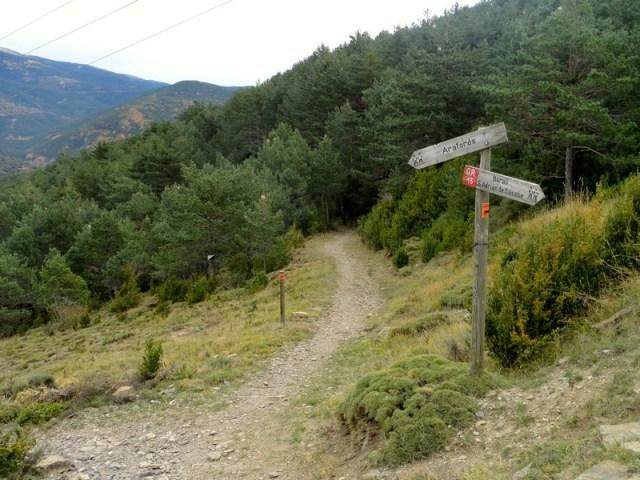 Cruce hacia la senda a Castiello