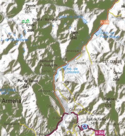 mapa de benasque