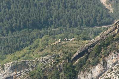 Vista de Sercué desde uno de los Sestrales