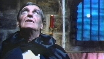 Hugh O. Fields as Father Vampire in Pirromount's 1983 comedy A Polish Vampire in Burbank