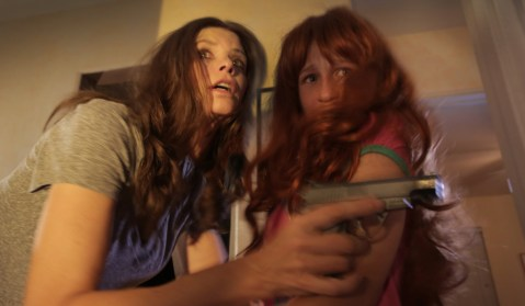 Louise Sutton (Tammy Klein) and her daughter Raven (Jessica Bassuk) encounter a nasty situation.