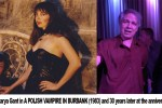 "Actors Mark Pirro and Marya Gant on set of ""A Polish Vampire in Burbank"" (1983) and at the 30 year reunion party (2013)"