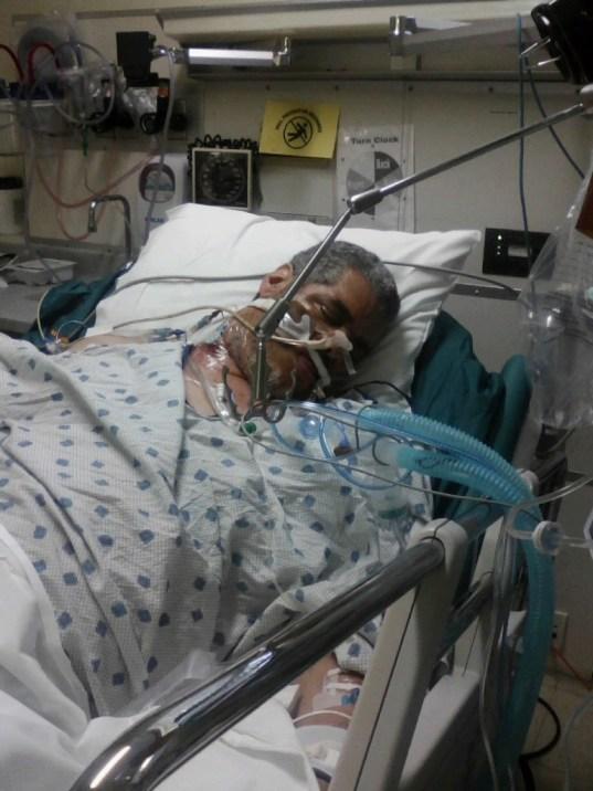 Elton in hospital