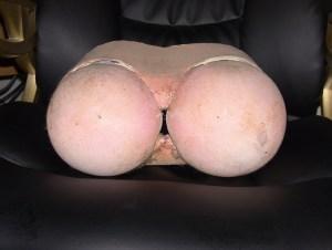 Original plastic butt made for movie Rectuma - Pirromount Pictures