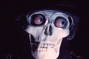 Skull with glasses and eyeballs from Polish Vampire