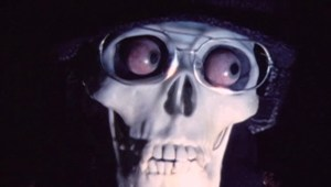 Skull with glasses and eyeballs from Polish Vampire