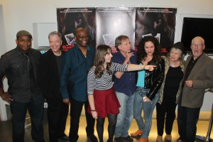 Keeshan Giles, Doug McPherson, Tyrone Dubose, Chelsea Cook, Mark Pirro, Janice Lipton, Barbe Nance and her boyfriend Ken at Rage of Innocence premiere