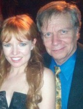 Actress Stef Dawson between her mom and filmmaker Mark Pirro