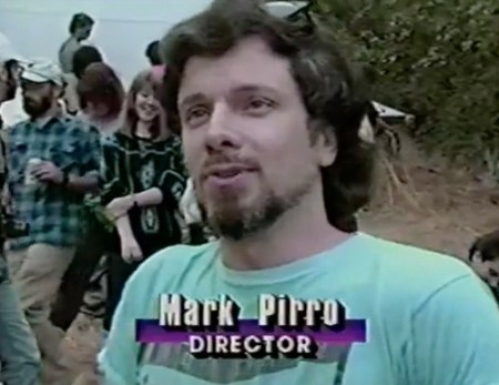 Filmmaker Mark Pirro in a segment from Entertainment Tonight, promoting his 1991 movie Nudist Colony of the Dead