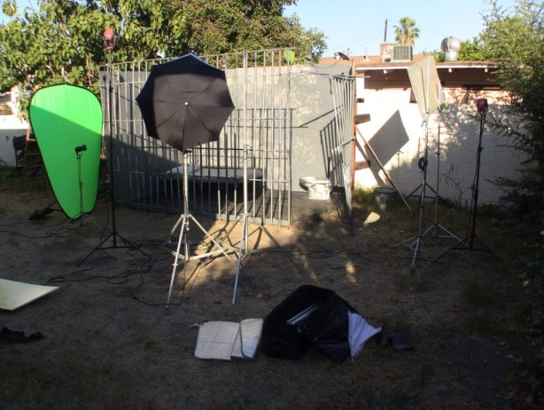 wide shot jail ready for filming