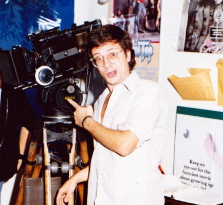 Filmmaker Mark Pirro on the set of his 1st 35mm film Deathrow Gameshow (1987)