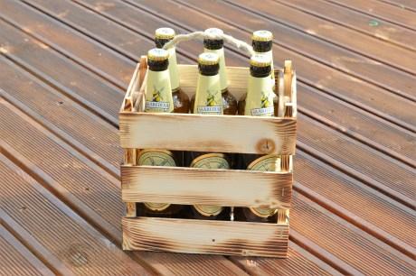 Puidust õllekast, pudelikast 6 pakk