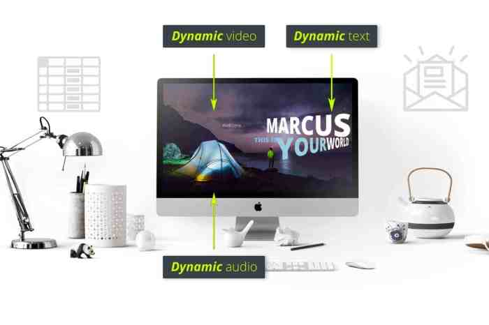 Ejemplo de plantilla de video personalizado