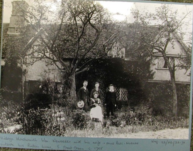 Tudor Cottage. William Newberry with his sons Alec and Norman