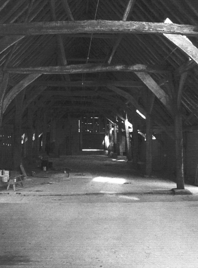 The tithe barn which was used to hold the tithes ie 10% of Pirton farmers crops. Originally this went to fund the Prioy in Hertford.