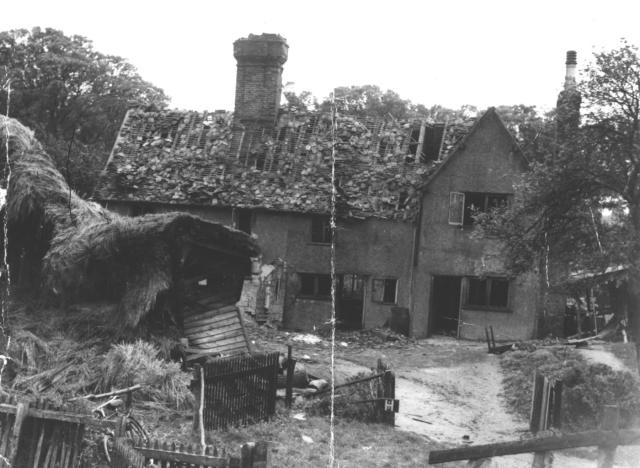 12 and 14 Bury End was damaged by the bomb.