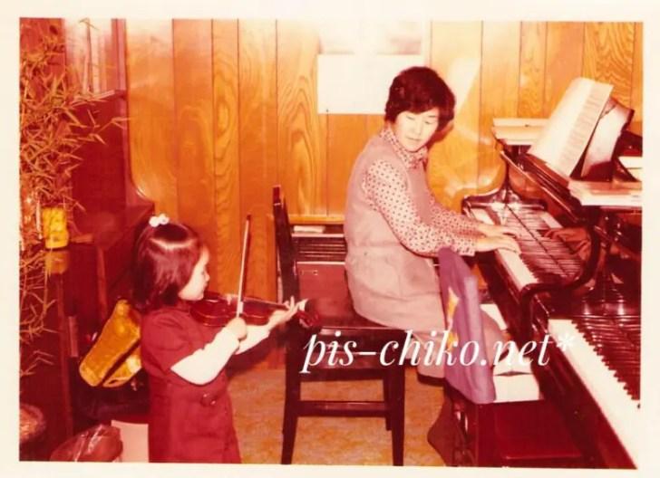 3歳のピスチコと母