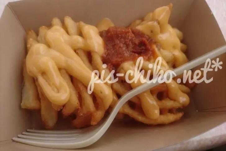 フライドポテト チリ&チェダーチーズディップ