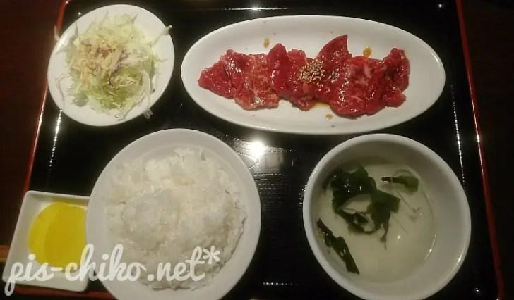 カルビ焼き肉定食