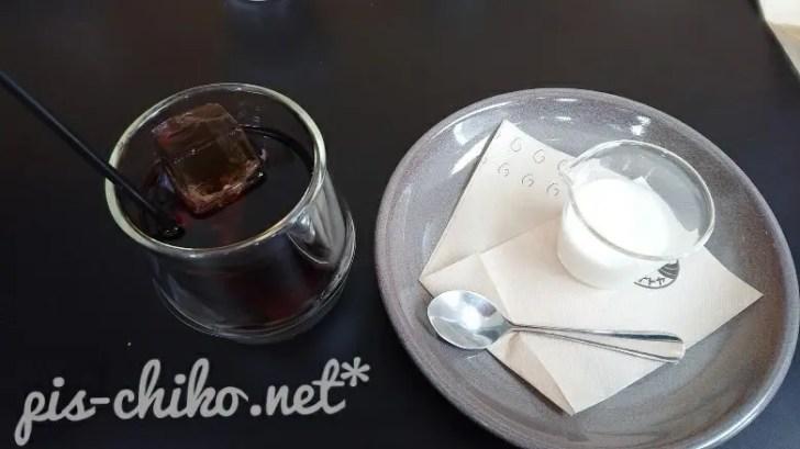 アイスコーヒーミルク付き