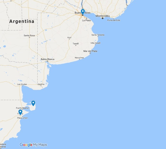 mapa Península Valdés