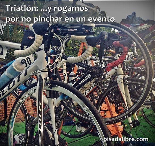 No pinchar bicicleta