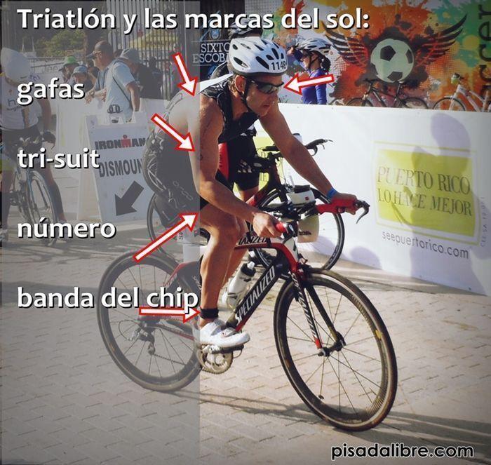 triatlon y el sol