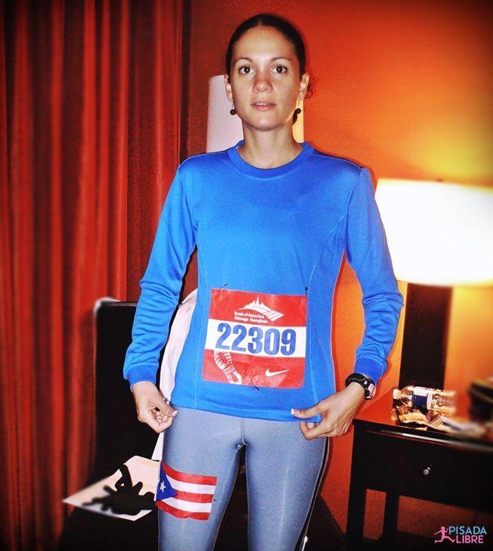 Camisa y número maratón Chicago