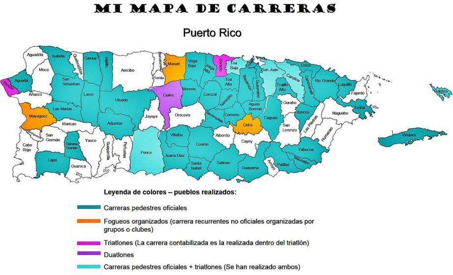 Mapa de carreras Puerto Rico
