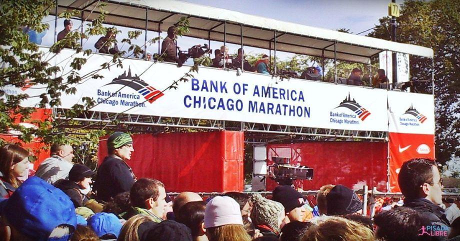 Chicago Marathon finish line