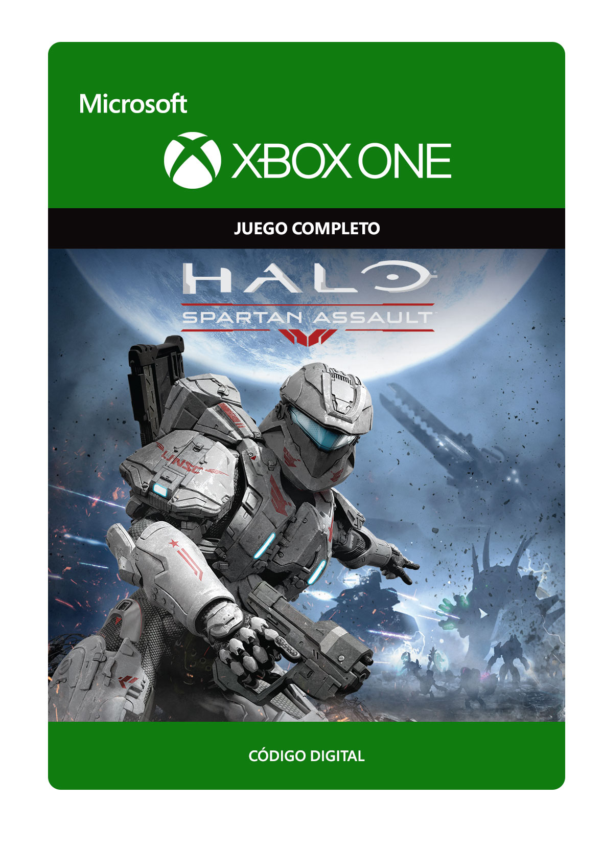 A logo is a symbol, mark, or other visual element that a company uses in place of or in conjunction with its business title. Xbox One - Halo: Spartan Assault - Juego Completo Descargable